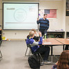 Record-Eagle/Keith King<br /> Ben Zenner teaches a lesson on stereotypes during his United States history class at Traverse City West Senior High School.