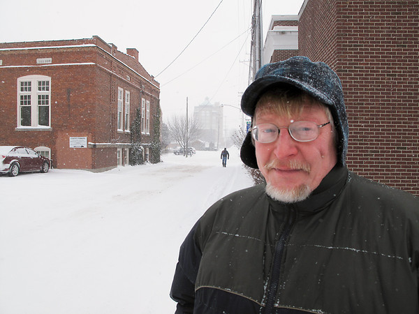 Record-Eagle/Glenn Puit<br /> Doug Burwell, 59, is surviving this week's bitter cold by staying the night at Central United Methodist Church. Burwell, who is homeless, is thankful for the shelter provided by Safe Harbor of Grand Traverse.