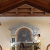 Record-Eagle/Jan-Michael Stump<br /> Will Kolstad of Conrad Schmitt Studios in New Berlin, Wisc, touches up the gilding around the main alter at the chapel in the Carmelite Monastery Friday, where a nearly year-long renovation project is nearing completion.