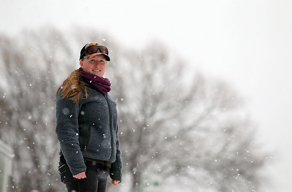 Record-Eagle/Jan-Michael Stump<br /> Emily Nemetz (cq), who is just getting over the flu, spends much of her job outside at Crystal Mountain Resort in Thompsonville
