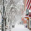 Record-Eagle/Keith King<br /> Snow is cleared from sidewalks Tuesday, January 22, 2013 along Front Street in downtown Traverse City.