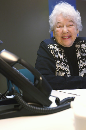 Record-Eagle/Jan-Michael Stump<br /> Arlene Koons, is one of the volunteers who will be calling area seniors participating in the United Way's K.I.S.S. (Keeping Independent Seniors Safe) program, which will talk on the phone with participating senior citizens three times a week to help alleviate feelings of isolation.
