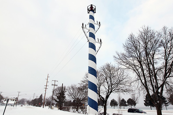 Record-Eagle/Keith King<br /> The utility pole between Bay Street and Grandview Parkway soon may be moved.
