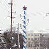 Record-Eagle/Keith King<br /> This 60-foot utility pole stands between Bay Street and Grandview Parkway.