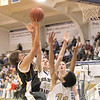 Record-Eagle/Jan-Michael Stump<br /> Glen Lake's Dan Kornelius puts up a shot.