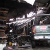 Record-Eagle/Art Bukowski<br /> The interior at Arrow Roofing and Supply, Inc., on Tuesday, after the Wellington Street building caught fire on Monday. The building sustained major structural, smoke and water damage.