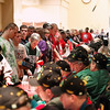 Record-Eagle/Jan-Michael Stump<br /> The Wertz Warriors sign autographs for Special Olympics athletes before the start of opening ceremonies at Grand Traverse Resort and Spa.