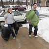 Record-Eagle/Keith King<br /> William Thompson, right, of New Hampshire, helps Mary Kate Rea, of California, move into East Hall on the<br /> main campus of Northwestern Michigan College in Traverse City on Thursday.