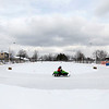 Record-Eagle/Jan-Michael Stump<br /> Rocky Rasho, 8, of Interlochen takes practice laps during Friday's qualifying for Saturday's TC 250 Vintage Snowmobile One Lunger Race in Interlochen.