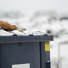Record-Eagle/Keith King<br /> A dead dog lies on top of a dumpster on Wednesday at the Grand Traverse County Animal Control building on Keystone Road.