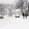 Record-Eagle/Loraine Anderson<br /> Snowfall makes downtown Suttons Bay look especially picturesque on a winter's day in the brand-new year.