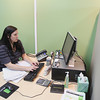 Record-Eagle/Keith King<br /> Jeannette Benbow, office manager and registered tax return preparer works Monday, January 14, 2013 in H & R Block at Cherryland Center in Traverse City.