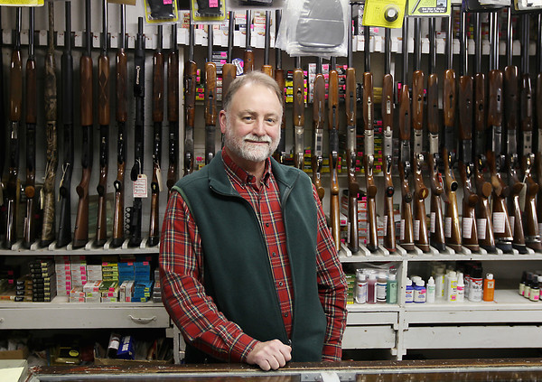 Record-Eagle/Keith King<br /> Jack Fellows, salesman, stands for a photo Wednesday, January 16, 2013 at Hampel's in Traverse City.