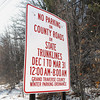Record-Eagle Photo/Art Bukowski<br /> A sign about the county's winter parking ordinance posted along Cass Road.