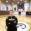 Record-Eagle/Keith King<br /> Mike O' Brien, a senior at Glen Lake High School, stands Wednesday, January 9, 2013 at Glen Lake High School.
