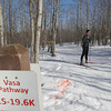 Record-Eagle/Keith King<br /> <br /> Chris Reidy, of Madison, Wis., stands on the Vasa trail near Timber Ridge Resort Wednesday, February 8, 2012 prior to skiing on the trail as he prepares for Saturday's North American Vasa cross-country ski race.