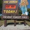 Record-Eagle/Keith King<br /> A fire danger of 'very high' is displayed Tuesday, July 3, 2012 at the Department of Natural Resources Traverse City field office on the corner of Garfield Road and Emerson Road.