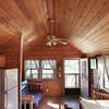 Record-Eagle/Keith King<br /> The interior of a Deluxe Lodge Cabin at the Traverse City KOA.