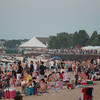 Record-Eagle/Keith King<br /> Spectators gather on West End Beach to watch the Fourth of July fireworks display over West Grand Traverse Bay Wednesday.