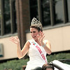 Record-Eagle/Jan-Michael Stump<br /> 2012-13 National Cherry Queen Meg Howard waves to the crowd during Saturday's National Cherry Festival Cherry Royale Parade.