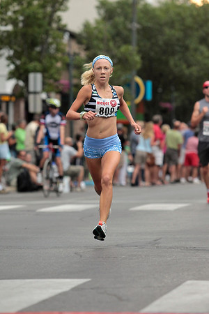 Record-Eagle/Jan-Michael Stump<br /> Brooke Kovacic won the women's 5k during Saturday's National Cherry Festival's Festival of Races.