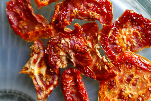 Record-Eagle/Jan-Michael Stump<br /> Dried tomatoes from Carol Brow's food dehydrator.