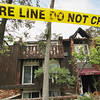 Record-Eagle/Keith King<br /> A building at the Alpine Apartments in Traverse City shows heavy fire damage Friday, July 22, 2011 from a fire during early morning hours of Monday, July 18, 2011.