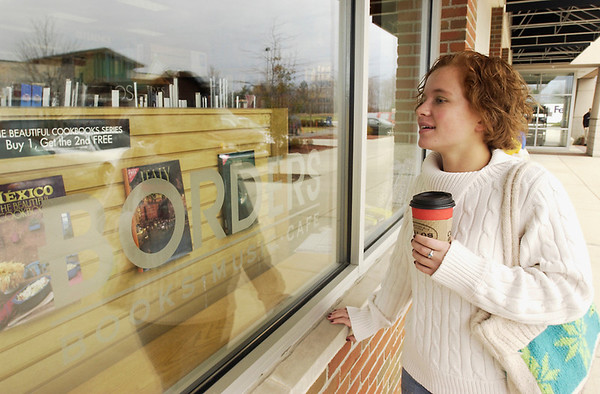 Record-Eagle file photo<br /> Holly Lumsden window-shops at Borders in Traverse City.