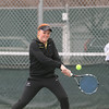 Record-Eagle/Keith King<br /> <br /> Traverse City Central's Paige Cooley competes at No. 1 singles during the Up North Invitational at Traverse City Central Senior High School.