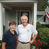 "Record-Eagle/Keith King<br /> Ken ""Oz"" and Becky Osborne, of Old Mission Peninsula, stand Tuesday, July 17, 2012 outside their home. Ken ""Oz"" is the president of the Traverse City Rotary Club while Becky is the president of the Traverse Bay Twilight Rotary Club."