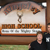 Record-Eagle Photo/Art Bukowski<br /> Diane and Jon Walton, who were close with Justin Hansen, stand by Kingsley High School.