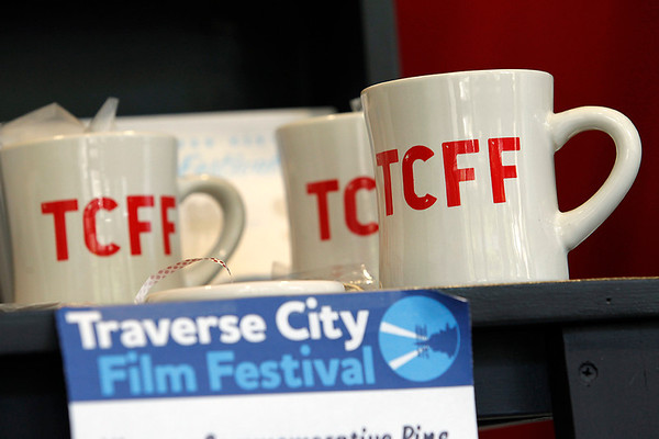 Record-Eagle/Jan-Michael Stump<br /> $10 Traverse City Film Festival coffee cups are for sale in the festival box office.