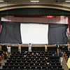 Record-Eagle/Keith King<br /> A projection screen is raised in Lars Hockstad Auditorium at Central Grade School in preparation for the upcoming annual Traverse City Film Festival.