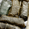 Record-Eagle/Jan-Michael Stump<br /> Stuffed grape leaves at the Up North Greek stand.
