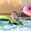 Special to the Record-Eagle/Keith King<br /> Ruby Gieseck, of Kalkaska County, participates in aqua fitness Friday, July 7, 2017 at All Seasons Hotel and Resort in Kalkaska.