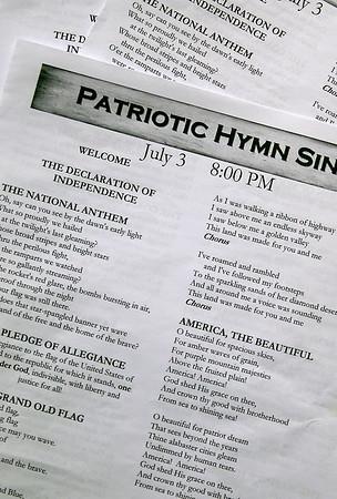 PATRIOTIC HYMN SING