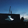 "Record-Eagle/Jan-Michael Stump<br /> ""The Empire Strikes Back"" plays on the 100-foot-wide screen at the Open Space during the Traverse City Film Festival."