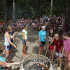 Record-Eagle/Keith King<br /> Campers and staff at the YMCA Camp Arbutus Hayo-Went-Ha take turns roasting marshmallows as they, along with campers and staff at YMCA camps nationwide, attempt to hold the World's Largest Marshmallow Roast. Witnesses were on hand and signatures from participants were signed to fulfill requirements set by the Guinness World Record organization, who prequalified the event.