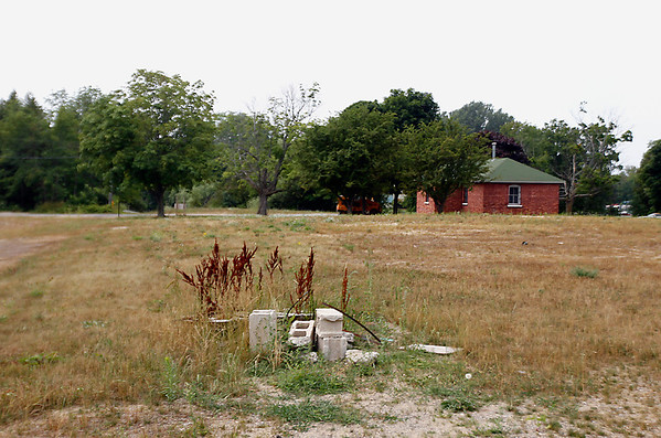 Record-Eagle/Jan-Michael Stump<br /> The old courthouse complex in Leland sits empty after potential developers defaulted. The county may have to put the land back up for sale.