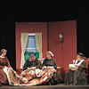 "Record-Eagle/Jan-Michael Stump<br /> Cast members rehearse a scene for ""The Promise Kept,"" Monday at the Northport Community Arts Center."