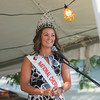Record-Eagle/Keith King<br /> Sonya Sayler, 2013-2014 National Cherry Queen, speaks during the opening ceremonies of the 88th National Cherry Festival.