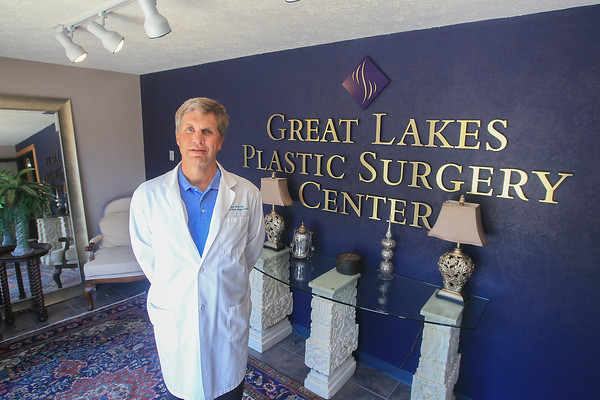 Record-Eagle/Keith King<br /> F. Matthew Smith, M.D., F.A.C.S. (Fellow, American College of Surgeons), at the Great Lakes Plastic Surgery Center in Traverse City.