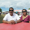 Record-Eagle/Michael Walton<br /> Uddhav, left, and Bhagwati Thapa, of Nepal, were two of the countless international guests who visited the National Cherry Festival.