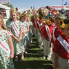 Record-Eagle/Keith King<br /> Princesses and princes from area schools wait for the start of the opening ceremonies of the 88th National Cherry Festival.