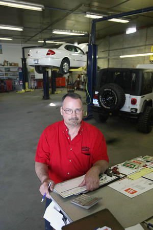 Record-Eagle/Keith King<br /> Mark Grist, president, stands for a photo Friday, June 28, 2013 at Traverse City Fleet Repair.