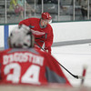 Record-Eagle/Keith King<br /> Darren Helm skates with the puck Wednesday, July 10, 2013 during the Detroit Red Wings skill development camp at Centre ICE in Traverse City.