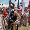 Record-Eagle/Keith King<br /> Head veteran, Bill Martell, who served with the United States Marine Corps, prepares for the start of the Grand Traverse Band of Ottawa and Chippewa Indians Pow Wow Tuesday, July 10, 2012 during the National Cherry Festival.