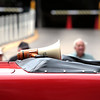 Record-Eagle/Jan-Michael Stump<br /> The megaphone of long time National Cherry Festival Ambassador and Parade Martial Emeritus Mel Gee sits on the back of a car in his honor during Saturday's National Cherry Festival Cherry Royale Parade.