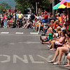 Record-Eagle/Jan-Michael Stump<br /> People line Front Street for Saturday's National Cherry Festival Cherry Royale Parade.
