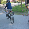 Record-Eagle/Marta Hepler Drahos<br /> Drew Cummins, 9, hops on his bike during a TC Rides community bicycle ride Wednesday.